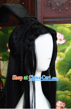 Ancient Chinese Prince Long Wig