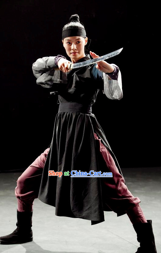 Ancient Korean Warrior Dress Halloween Costumes and Headwear for Men