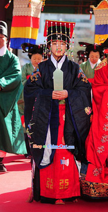 Ancient Korean Prince Costumes and Hat Complete Set