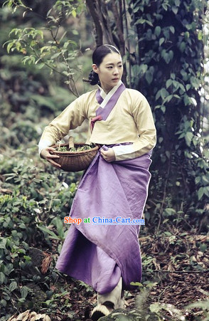 Traditional Korean Female Costumes Complete Set for Women