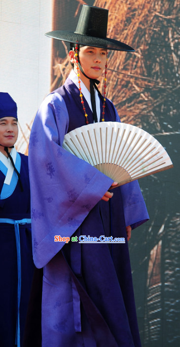 Korean Traditional Dresses and Hat for Men