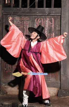 Korean Traditional Clothes and Hat for Boys