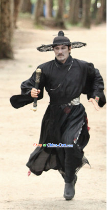 Korean Drama Black Swordman Costumes and Hat