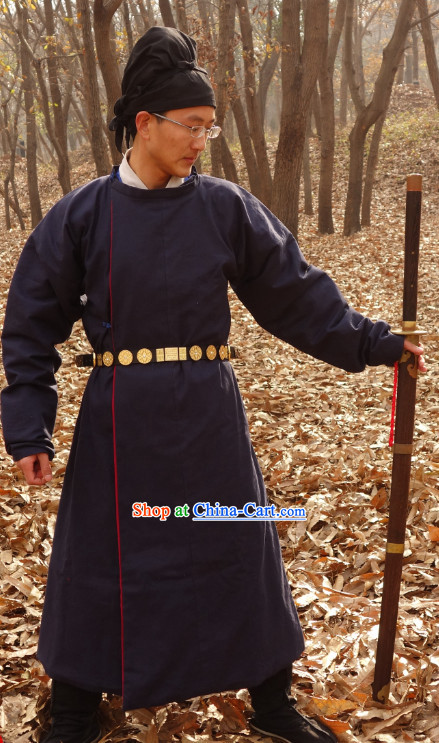 Ancient Tang Dynasty Hanzhuang Yuanlingshan Attire for Men