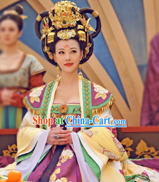 Ancient Tang Dynasty Female Emperor Wu Zetian Clothing