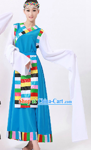 Tibetan Dance Costumes and Headwear for Women