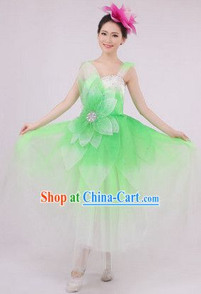 Big Festival Celebration Stage Flower Dance Costumes and Headwear for Girls