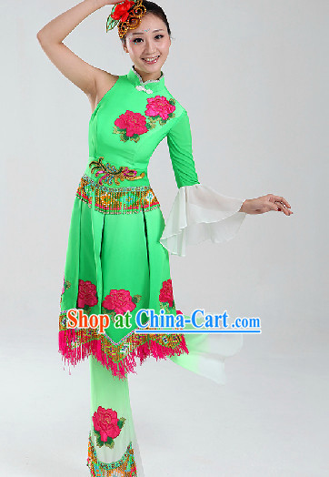 Enchanting Effect Traditional Folk Dancing Costumes and Headwear Complete Set for Women