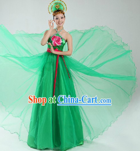 Enchanting Effect Classical Costumes and Headwear Complete Set for Women