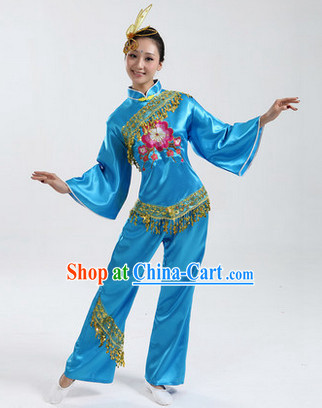 Traditional Asian Dance Costumes Complete Set for Women