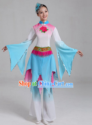 Traditional Asian Dance Costume Complete Set for Women 2