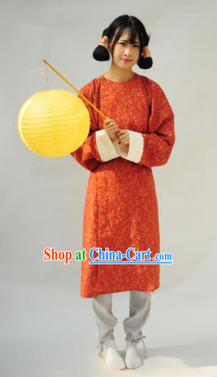 Tang Dynasty Traditional Long Robe for Women