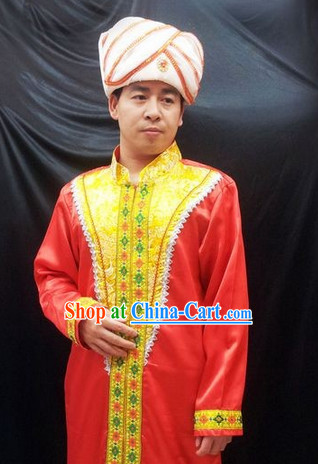 Traditional Indian Dresses and Hat for Men