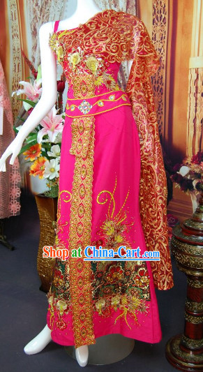 Southeast Asia Traditional Wedding Dresses Complete Set