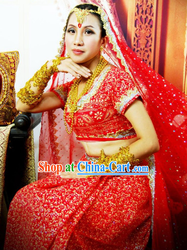 Southeast Asia Traditional Red Indian Wedding Dresses for Men