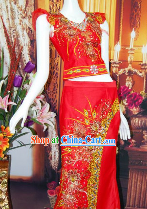 Southeast Asia Traditional Thailand Outfit for Women