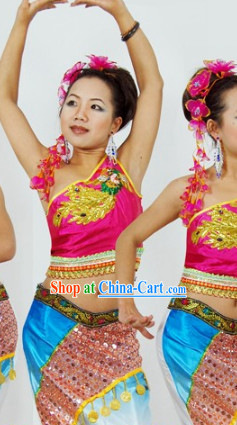 Southeast Asia Traditional Thailand Dancewear for Women