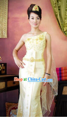 Southeast Asia Traditional Laos Dresses for Women
