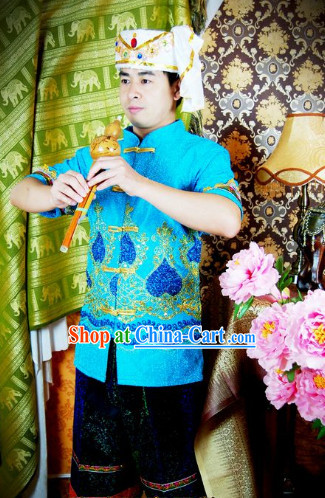 Southeast Asia Traditional Laos Dresses for Men