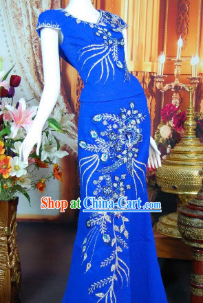 Southeast Asia Traditional Thailand Dresses for Girls