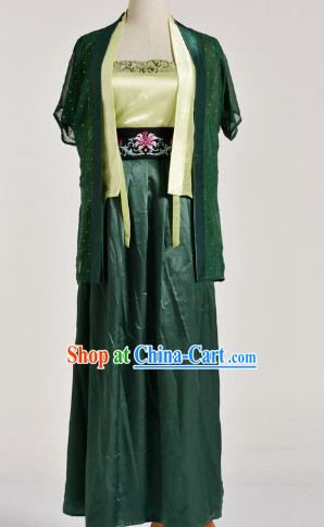 Chinese Black Han Fu Dresses for Women