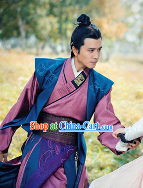 Chinese Costume Period of the Northern and Southern Dynasties Ancient Chinese Lanling King Costumes Complete Set