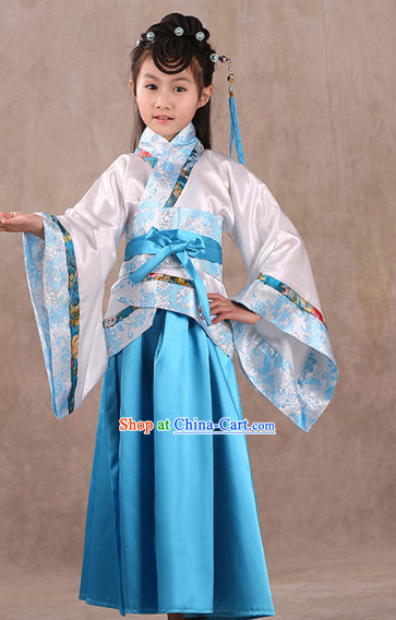 Classical Premium Performance Wear Hanfu Dresses for Kids