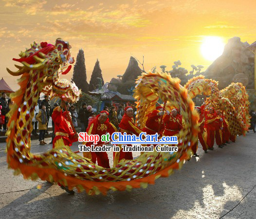 Chinese New Year Ceremony Tongliang Dragon Dance Costumes Complete Set