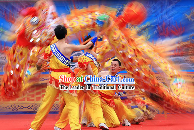 Professional Stage Performance Handmade Chinese Chongqing Dragon Dancing Costumes Complete Set