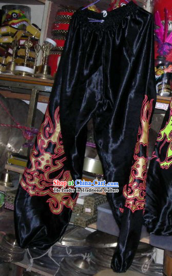 Traditional Black Chinese Dragon Dance Pants