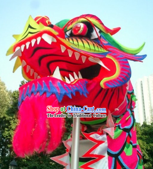 Top Chinese Glow in Dark Luminated Dragon Dance Head and Costumes Complete Set