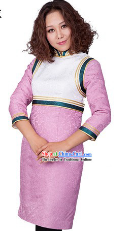 Traditional Chinese Mongolian Clothing for Women
