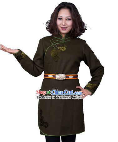 Traditional Chinese Mongolian Long Dresses for Women
