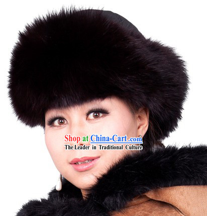 Traditional Chinese Handmade Mongolian Princess Fox Hat