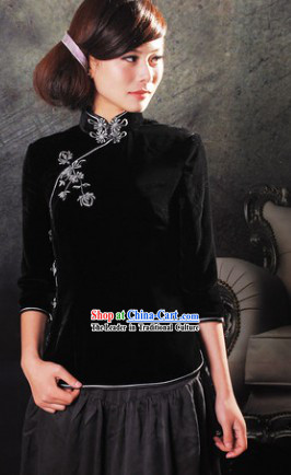 Traditional Chinese Silk Minguo Lady Clothing