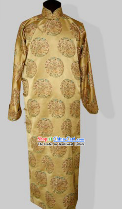 Traditional Chinese Minguo Time Long Dress for Men