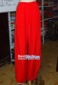 Traditional Chinese Red Pants