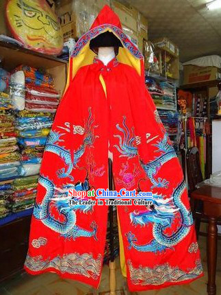 Traditional Chinese Beijing Opera Embroidered Dragon Mantle