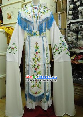 Traditional Chinese Stage Performance Opera Seven Fairies Long Sleeves Dance Costumes