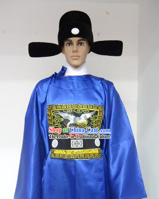 Ancient Chinese Ming Dynasty Government Costumes and Hat for Men