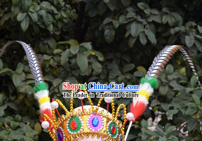 Qiao Hua Dan Feather Dance Hat