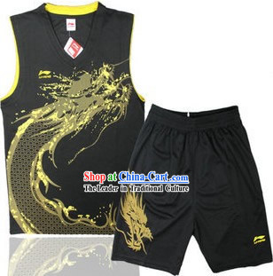 Traditional Black Dragon Dancer Uniform