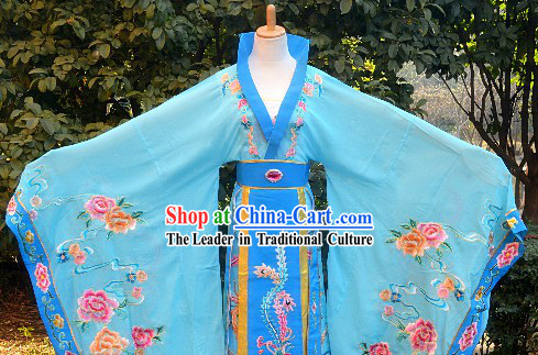 Traditional Chinese Stage Performance Empress Embroidered Long Robe