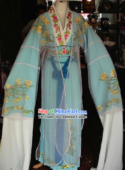 Ancient Chinese Opera Group Dance Costumes and Hat for Kids