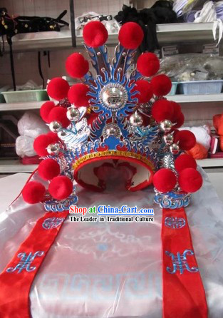 Chinese Peking Opera Guan Yu Hat for Children