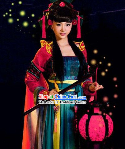 Ancient Chinese Tang Dynasty Barbie Doll Costumes Complete Set