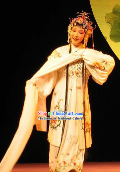 Li Xiuying Beijing Opera Hua Dan Costumes and Hair Accessories Complete Set