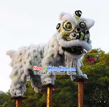 Tiger Claw Long Wool Lion Dance Chinese New Year Costume Complete Set
