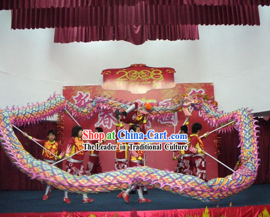 Professional Stage Performance Luminous Dragon Dance Championships Costume Complete Set