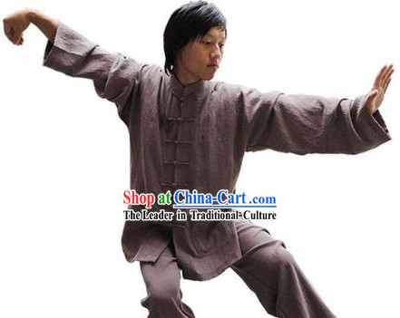 Classic Flax Kung Fu Practice Outfit
